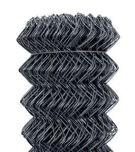 Obrázek z Poplastované pletivo antracit 125 cm vysoké kompaktní role bez napínacího drátu